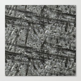 Gouged Stainless Texture Canvas Print