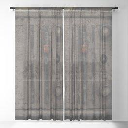 Broken radio Sheer Curtain