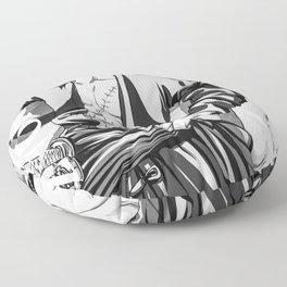 One Piece   Roronoa Zoro Black White Floor Pillow