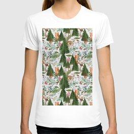 Light Winter Forest Animals T-shirt