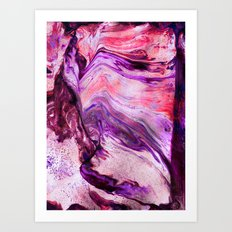 Marbled Garnet Art Print