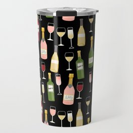 Rose drinks champagne wine bar art food fight apparel and gifts Travel Mug