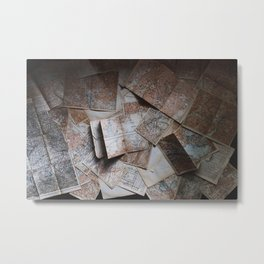Maps On Maps Metal Print
