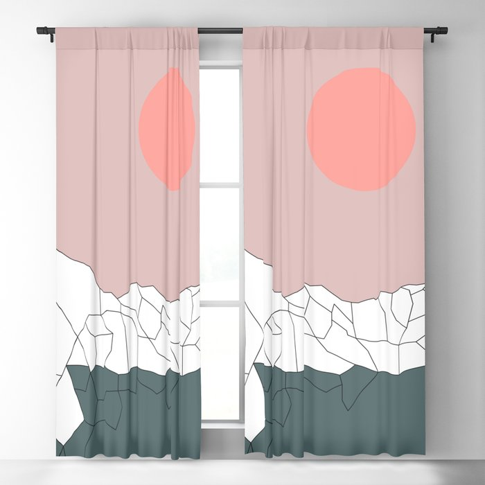 Geometric Landscape 17 Blackout Curtain