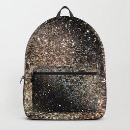 Sparkling GOLD BLACK Lady Glitter #3 #decor #art #society6 Backpack