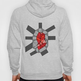 shikigami sculptural template 2 (fire red) Hoody