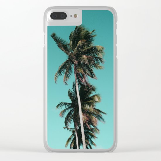 Palm tree vibes Clear iPhone Case