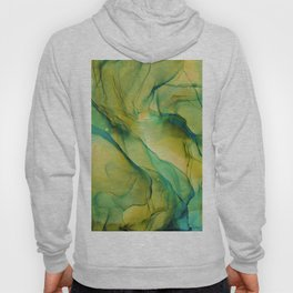 Acid Green Ethereal Ink Painting Hoody