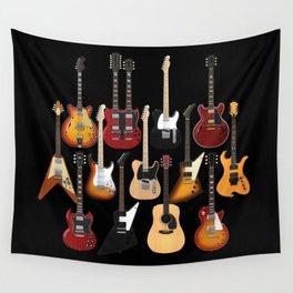 Too Many Guitars! Wall Tapestry