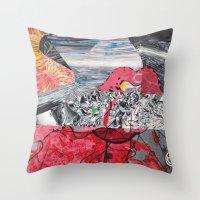 ariel Throw Pillows featuring ARIEL by Brandon Neher
