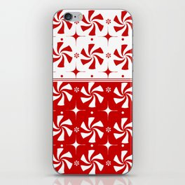 Red Peppermint Candy iPhone Skin