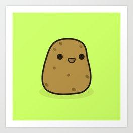 Cute potato Art Print