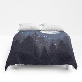 Full Moon Landscape Comforters