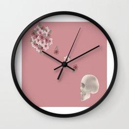Flourish print pink Wall Clock