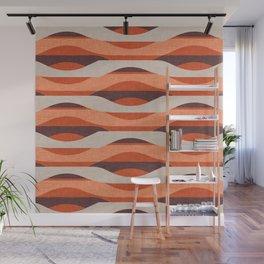 Mod Sunset Orange Wall Mural