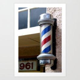 Barber Sign Art Print