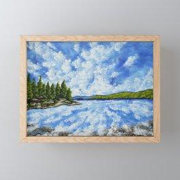 Hemlock Lake by Mike Kraus - finger lakes upstate ny new york nature water sky clouds beautiful tree Framed Mini Art Print