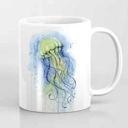 Jellyfish Watercolor Beautiful Sea Creatures Coffee Mug