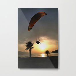 Dropzone At Dusk Metal Print