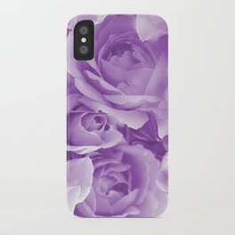 Violet Rose Bouquet For You - Valentine's Day #decor #society6 #homedecor iPhone Case