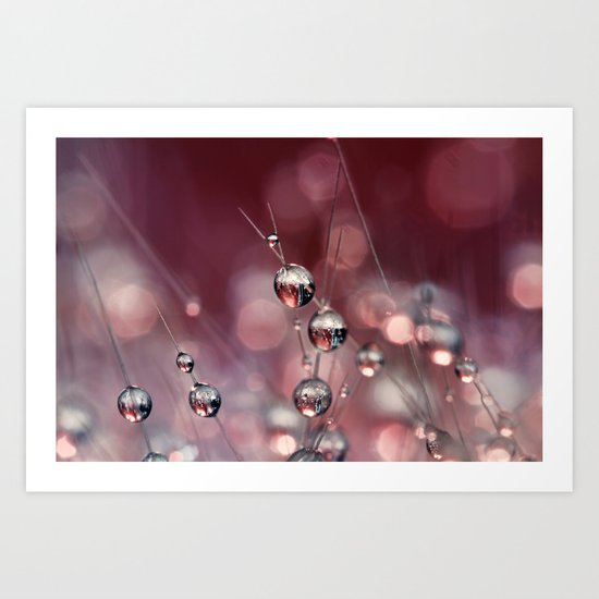 Cactus Wine Drops Art Print