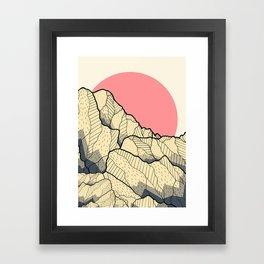 A new autumn hill Framed Art Print