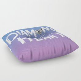 Diamond Heart Floor Pillow