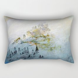 Caspar David Friedrich Morning Mist in the Mountains Rectangular Pillow