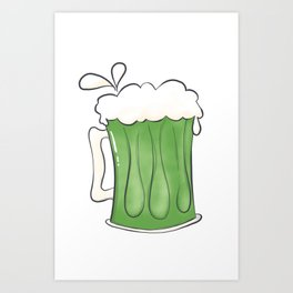 Saint Patties Day Beer Art Print