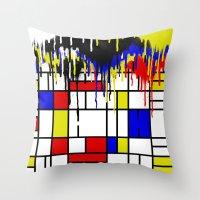 mondrian Throw Pillows featuring MONDRIAN by DIVIDUS