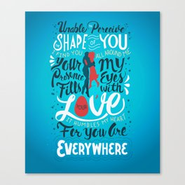 The Shape of You Canvas Print