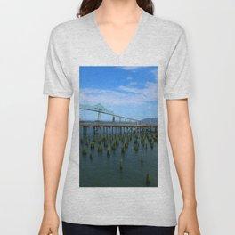 Megler Bridge -  Astoria Unisex V-Neck