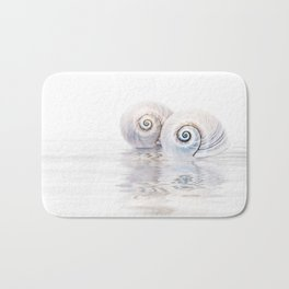 Snail Shells On Water Bath Mat
