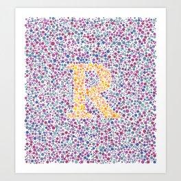 """""""R"""" Eye Test Full Art Print"""