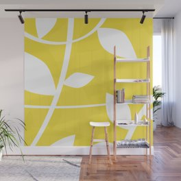 Vine in Yellow by Friztin Wall Mural