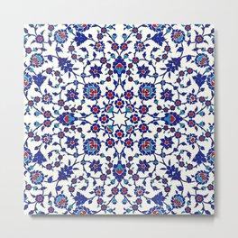 Iznik — Turkish pattern 26 Metal Print