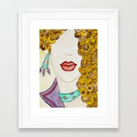 sassy Framed Art Prints featuring Sassy by Shanii Renay