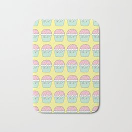 Yellow cup cakes Bath Mat