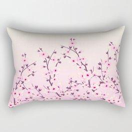 Cherry Blossoms Pink Rectangular Pillow