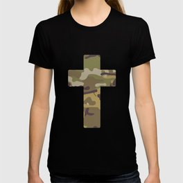 Cross Camouflage Symbol Gift T-shirt