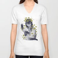celestial V-neck T-shirts featuring Celestial Decay by LordofMasks