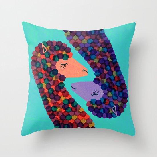 Alpacas in Love Throw Pillow