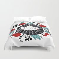carpe diem Duvet Covers featuring Carpe diem by martuka