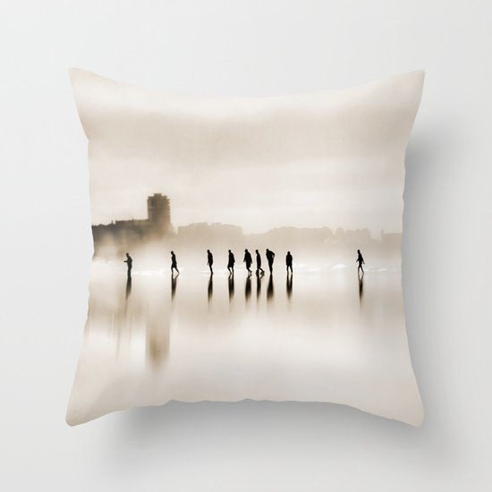 people walk Throw Pillow
