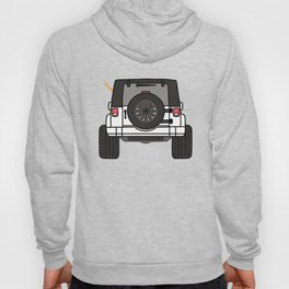Jeep Wave Back View - White Jeep Hoody
