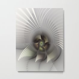 Stand Up, Abstract Fractal Art Metal Print