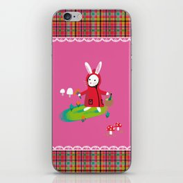 Little Red Riding Rabbit iPhone Skin
