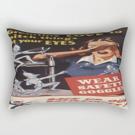 Vintage poster - Workplace safety Rectangular Pillow