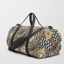 Abstract Doodle Pattern Duffle Bag