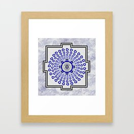 108 Evil Eye Sri Yantra Framed Art Print